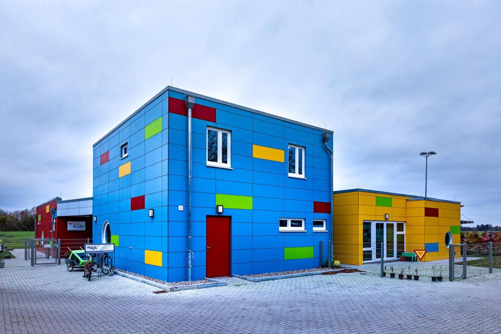 Farbenfroh, die Kita Kito in Wankendorf.
