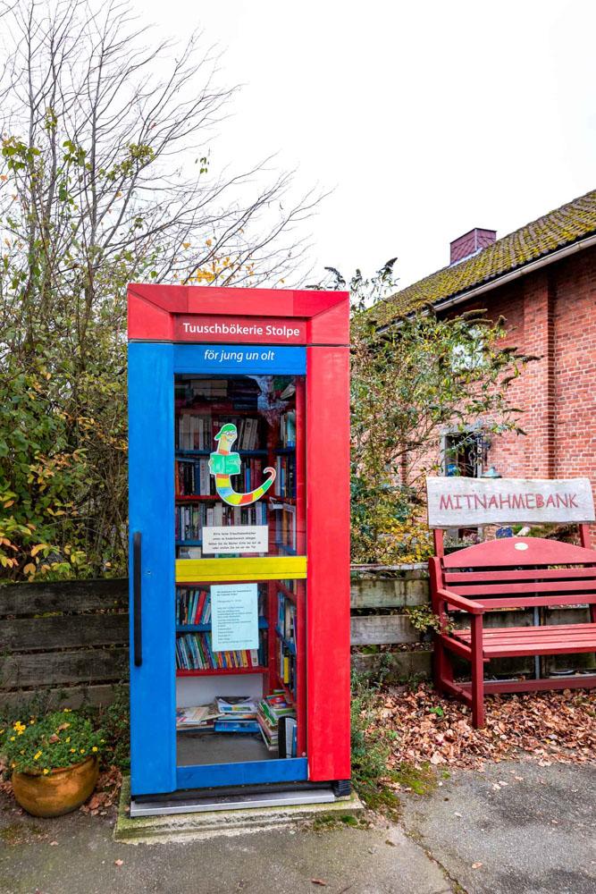 Tauschbücherei in Stolpe.
