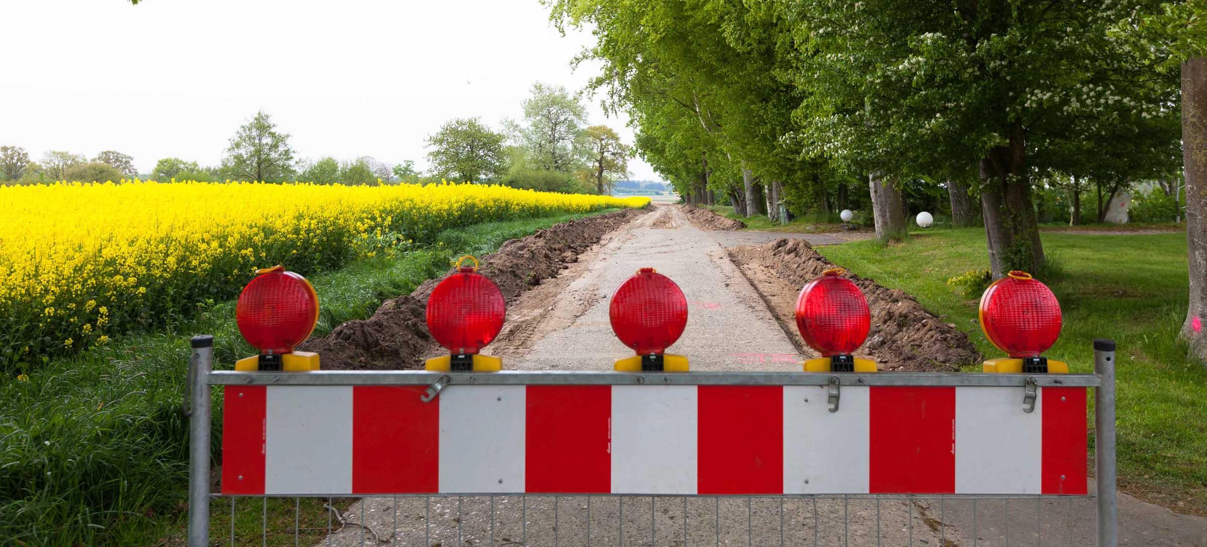In Schillsdorf, Großharrie und Tasdorf sorgen Wegebauarbeiten für Sperrungen