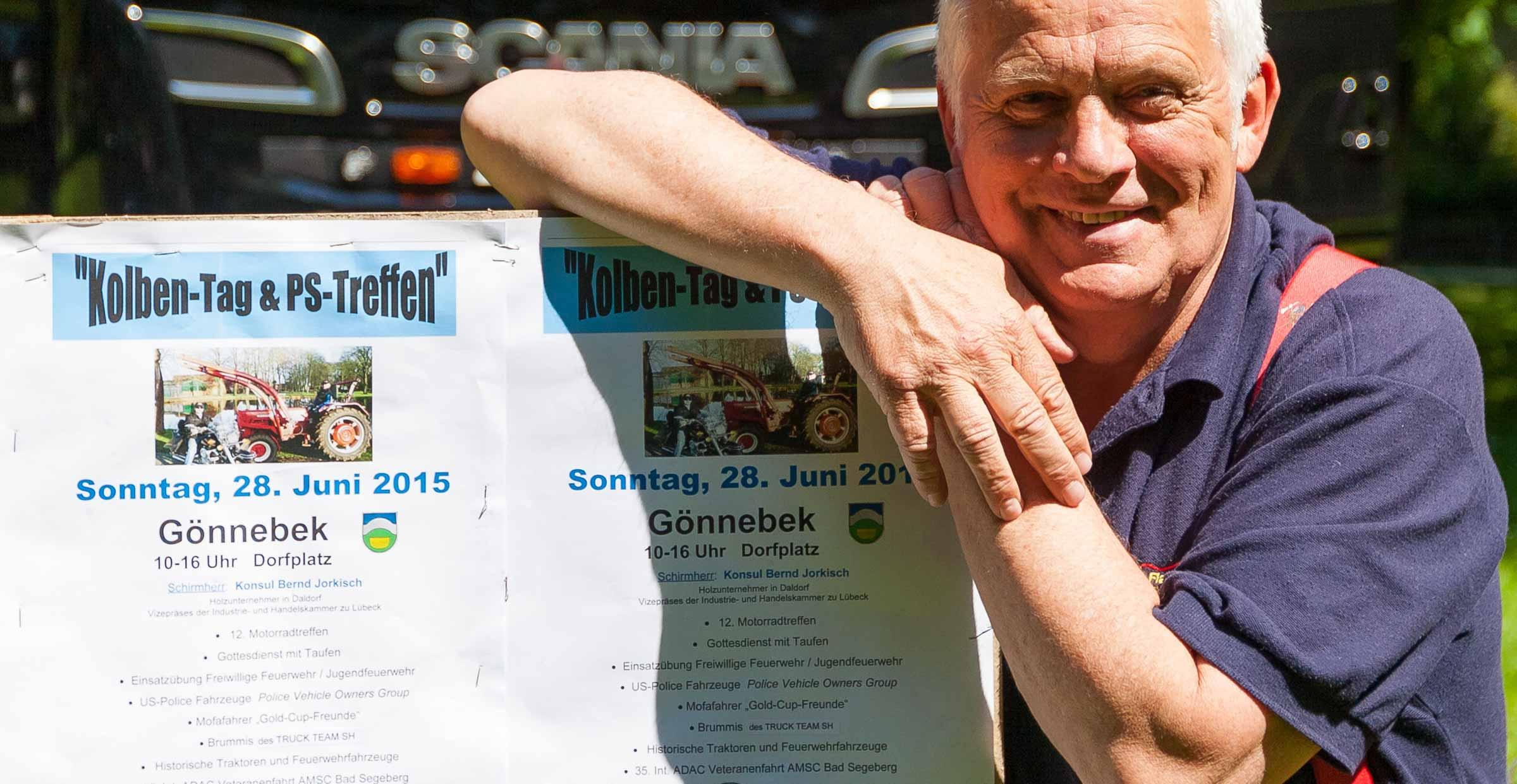 Oldies, Brummis und heiße Öfen.  Am 28. Juni laden die Feuerwehrbiker Flaming Stars zum 12. Motorradtreffen und zum 6. Freiluft-Gottesdienst auf den Gönnebecker Dorfplatz ein