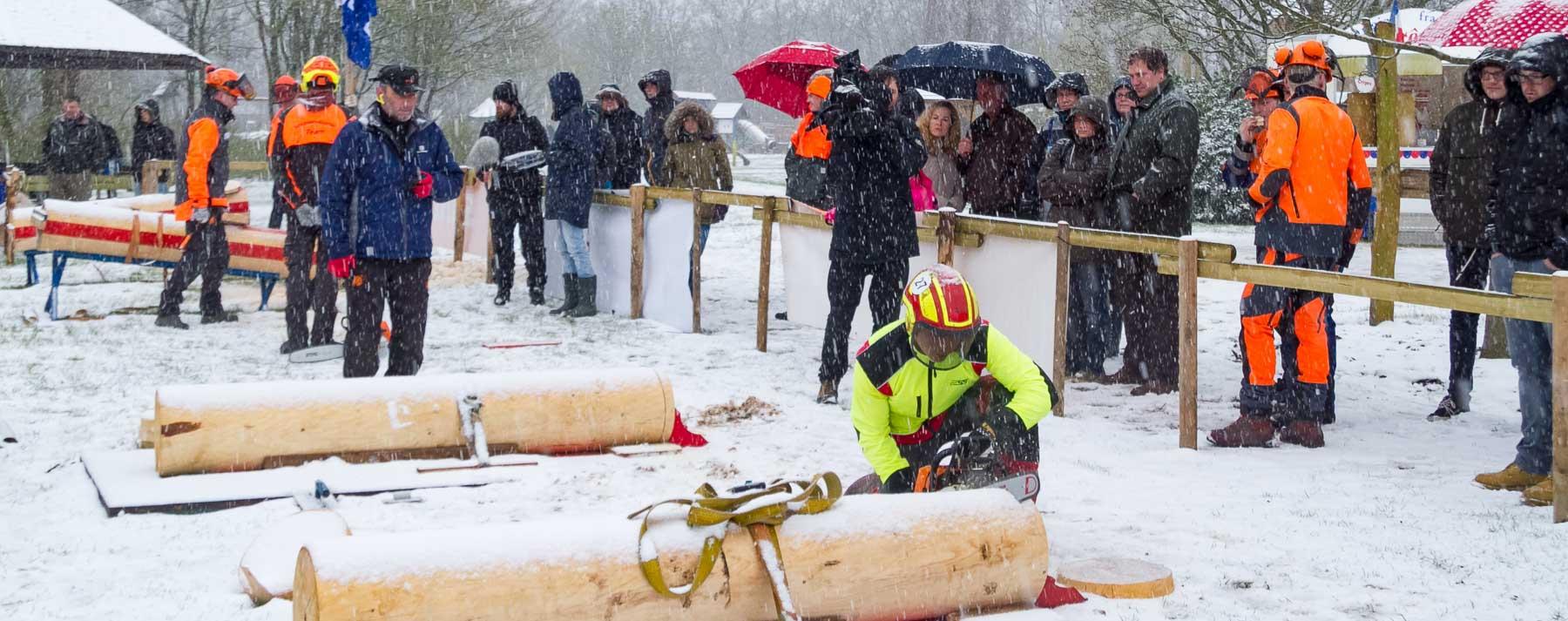 Frischlingsfest und Waldarbeitsmeisterschaften fanden im Schnee statt