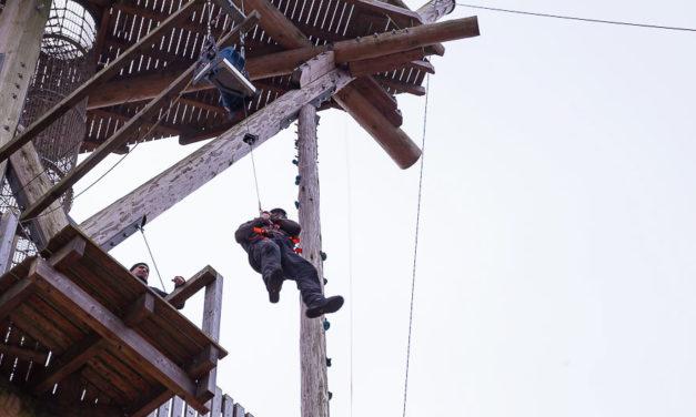 Neustart am Trappenkamper Teamtower. Ab März wird der Kletterturm im Erlebniswald unter neuer Regie geführt